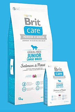 Brit Care Dog Grain-free Junior Large Breed Salmon & Potato12kg